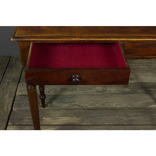 French 19th Century Mahogany Desk With Two Drawers For Sale - Image 9 of 11