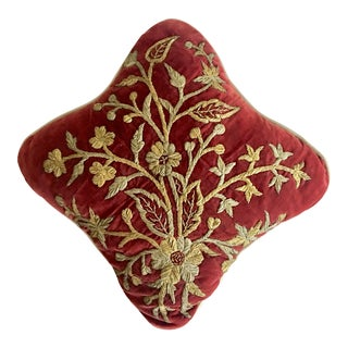 Antique Javanese Embroidered Pillow For Sale