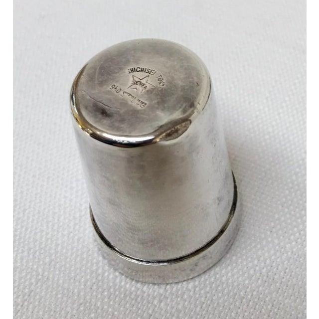 Silver Vintage Sterling Sake Cups - Set of 8 For Sale - Image 8 of 9