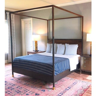 Hampson Wood and Metal Canopy King Size Bed Preview
