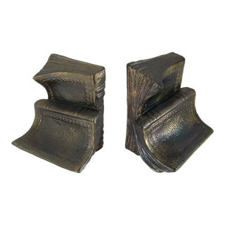 Brass Book Bookends- a Pair For Sale