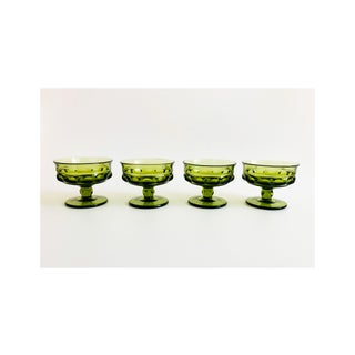 Vintage Green Coupe Cocktail Glasses - Set of 4 Preview
