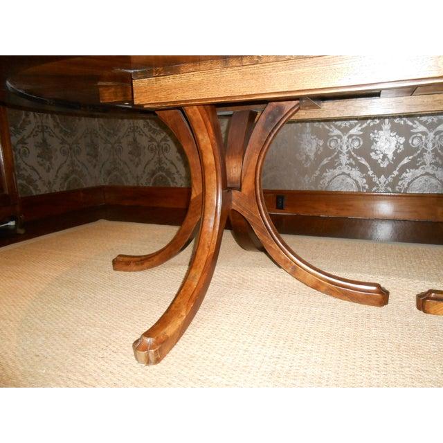 Batavia Pedestal Base Dining Table For Sale - Image 4 of 11