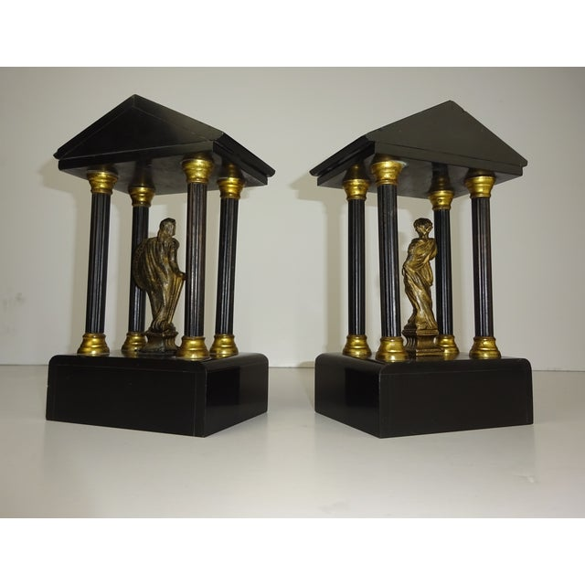 Belgian Miniature Marble & Bronze Temples - A Pair - Image 6 of 11