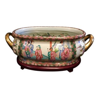 Chinese Chinoiserie Planter Jardiniere For Sale