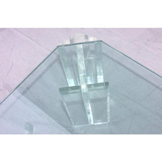 Glass 1970s Modern Lucite Coffee Table For Sale - Image 7 of 9