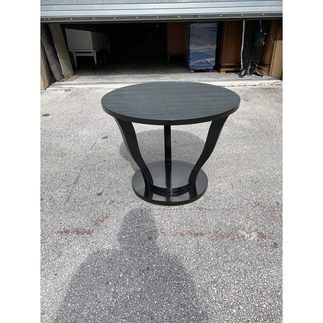 Black 1940s Vintage Classic French Art Deco Accent Table For Sale - Image 8 of 13