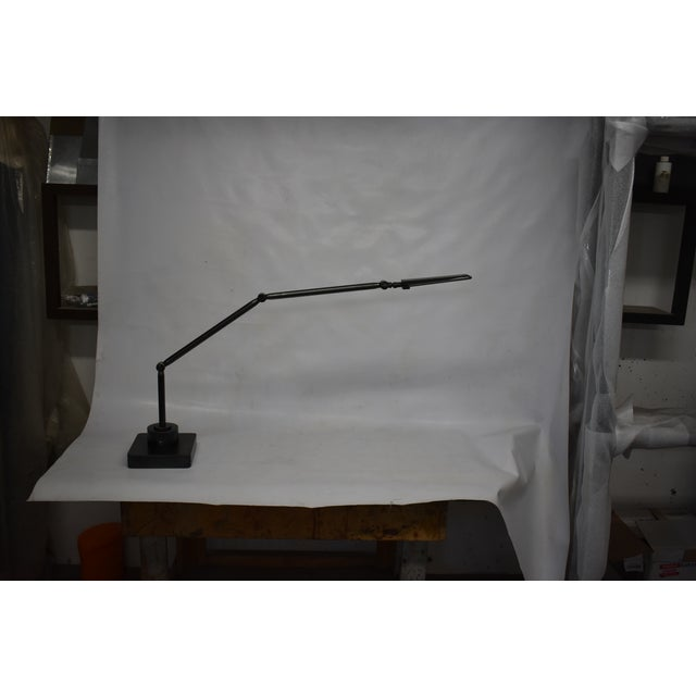 Metal Oblik Studio Inc. Brass and Steel Desk Lamp For Sale - Image 7 of 9
