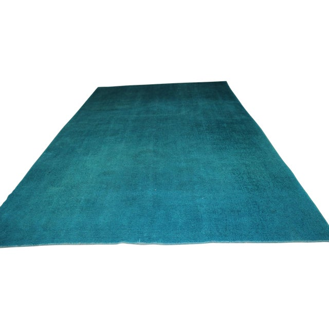 Overdyed Blue Turquaz Rug - 5′10″ × 9′2″ For Sale