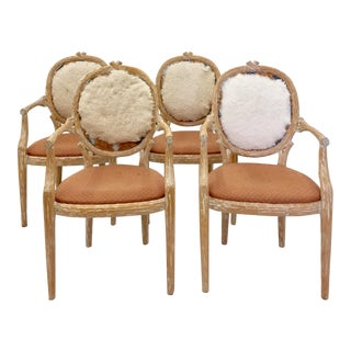 Michael Taylor Louis XVI Twig & Branch Arm Chair- Set of 4