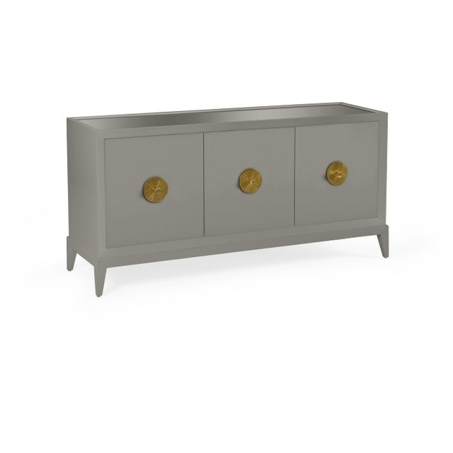 Transitional Casa Cosima Hayes Sideboard, Chelsea Gray For Sale - Image 3 of 3