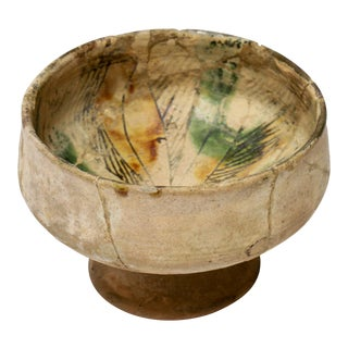 Islamic Persian Nishapur Pottery Footed Bowl For Sale
