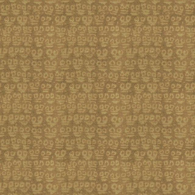 Hunt Slonem for Lee Jofa, Guardians Fabric, Taupe, 1 Yard For Sale