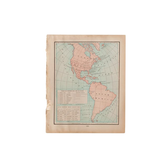 Cram's 1907 Map of Americas For Sale