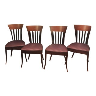 1990s Vintage Adam Tihany Rebecca Dining Chairs - Set of 4 For Sale