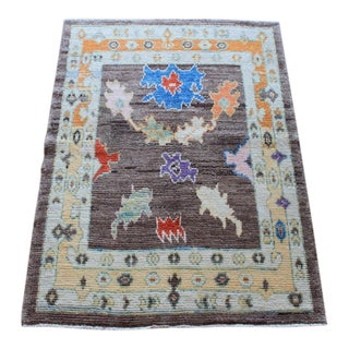 Fafi Handmade Turkish Rug - 3′5″ × 4′2″