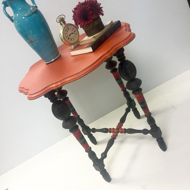 Orange Spice Accent Table - Image 5 of 8