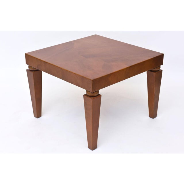 "American Modern ""Goatskin"" Occasional Table, Karl Springer For Sale In Miami - Image 6 of 10"
