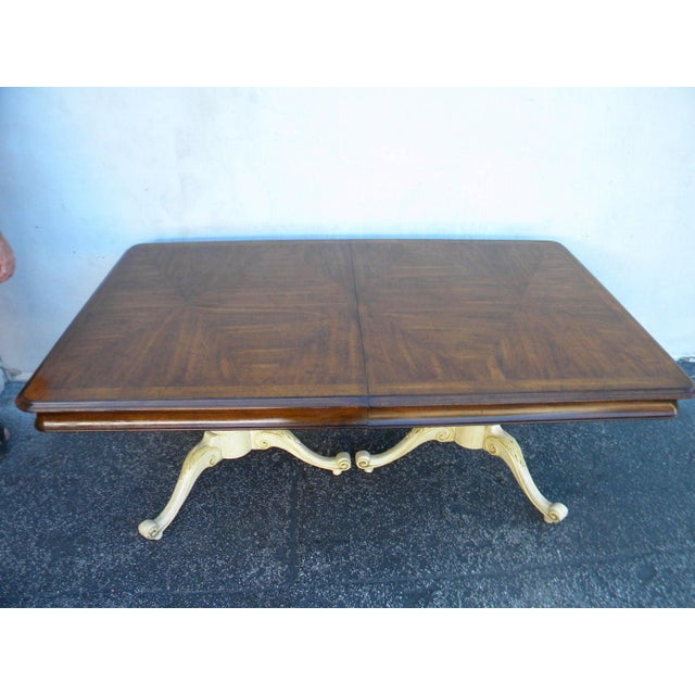 French Painted Expandable Dining Table For Sale - Image 4 of 4