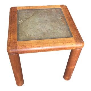Mid-Century Modern Haslev Slate Side Table For Sale