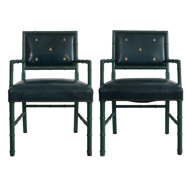 Blue Mid-Century Blue Arm Chairs - a Pair For Sale - Image 8 of 8