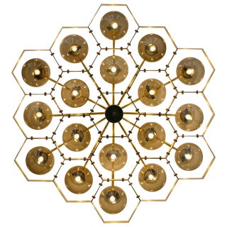 Honeycomb Flush Mount by Fabio Ltd For Sale