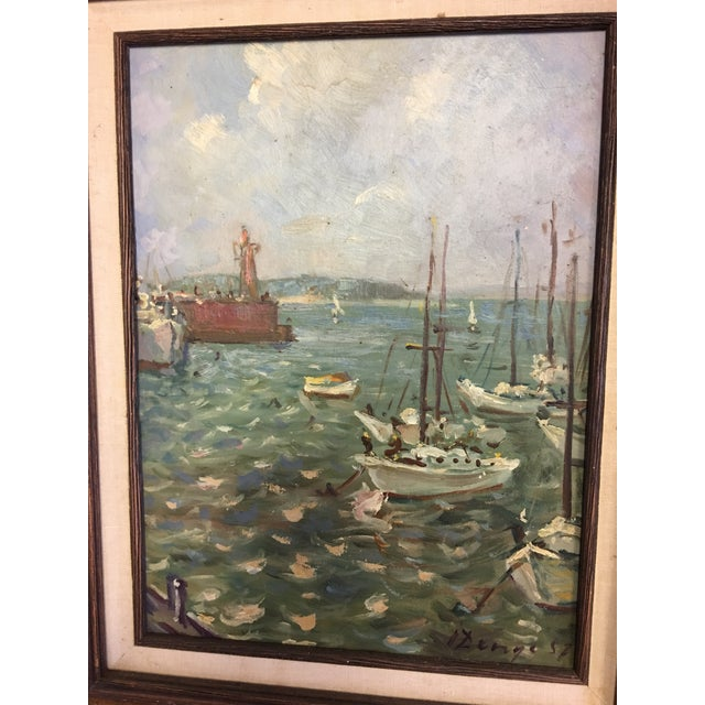 Ivan Denysenko Harbor Painting For Sale - Image 4 of 9