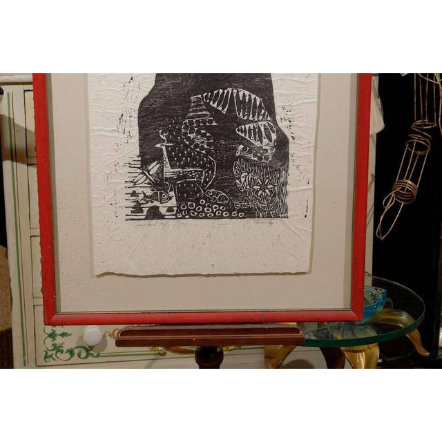 Clausland Mountain, a Woodblock by Artist Jim Tanaka For Sale In Atlanta - Image 6 of 8