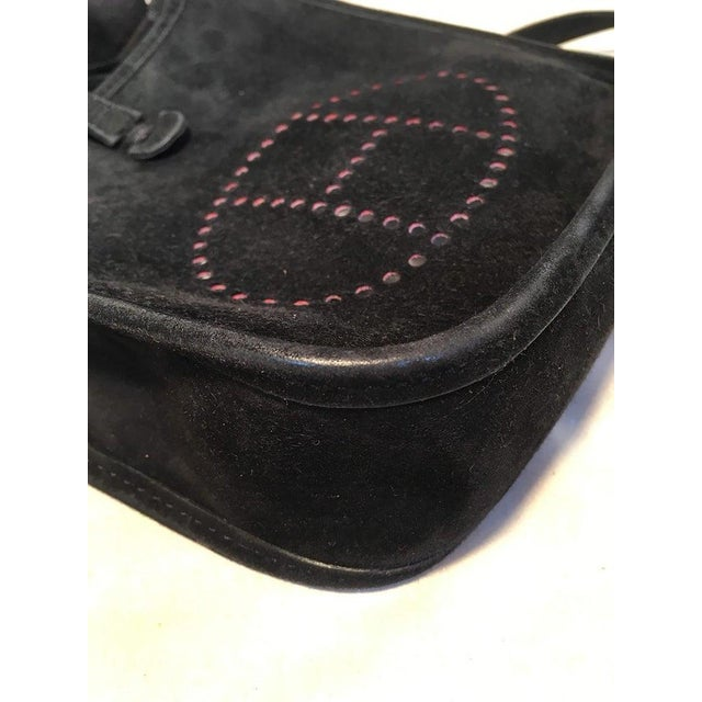 Black Hermes Black Suede Evelyne Tpm Mini Shoulder Bag For Sale - Image 8 of 13