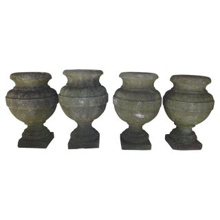 Belgian Bluestone Urns - Set of 4 For Sale