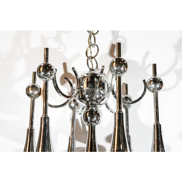 Gaetano Sciolari Italian Trumpets Chandelier by Sciolari For Sale - Image 4 of 9