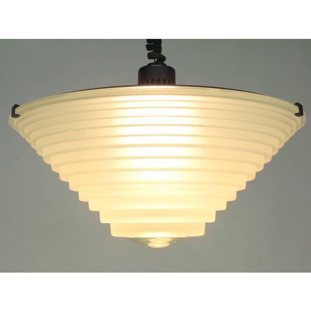 "Artemide 1979 Vintage Angelo Mangiarotti for Artemide Italia ""Egina"" Pendant For Sale - Image 4 of 6"