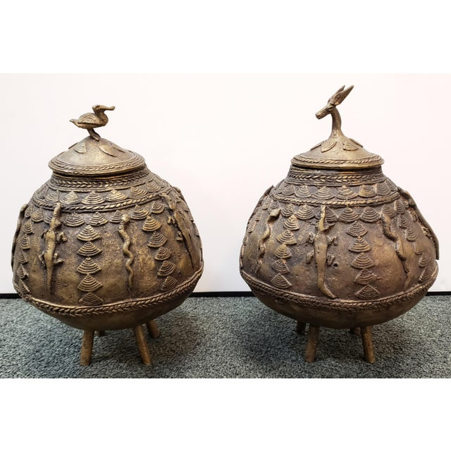 Metal Mid 20th Century Ashanti Brass Kuduo Pots From Ghana - a Pair For Sale - Image 7 of 7