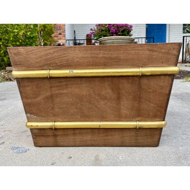Chestnut Regency Style Teakwood Planter For Sale - Image 8 of 10