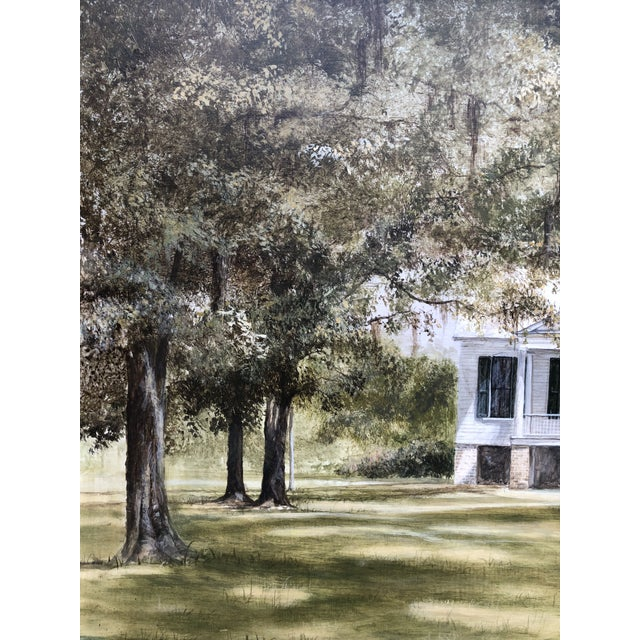 1970s Douglas Grier Southern American Architectural Landscape Painting, Framed For Sale - Image 5 of 12