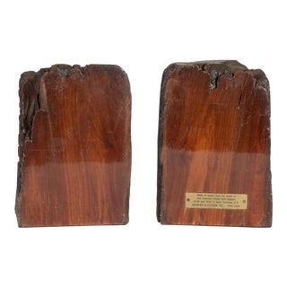 Mid Century Organic Schmieg & Kotzian Caobo Bookends From 16th Century Beams - a Pair For Sale