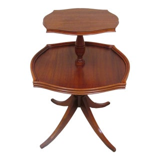 Vintage English Two Tier Dumbwaiter Table- Mark Down For Sale