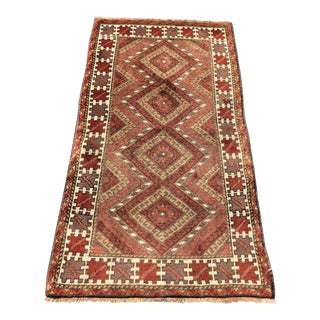 "Vintage Wool Turkish Sumac Anatolian Rug - 2' 9"" x 5' 1"" For Sale"