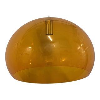 1960s Orange Plastic Chandelier For Sale