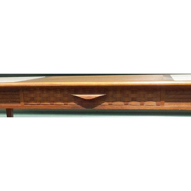 Brutalist Lane Maple With Marble Insets Coffee & End Table Living Room Group - 3 Pc. Set For Sale - Image 3 of 11