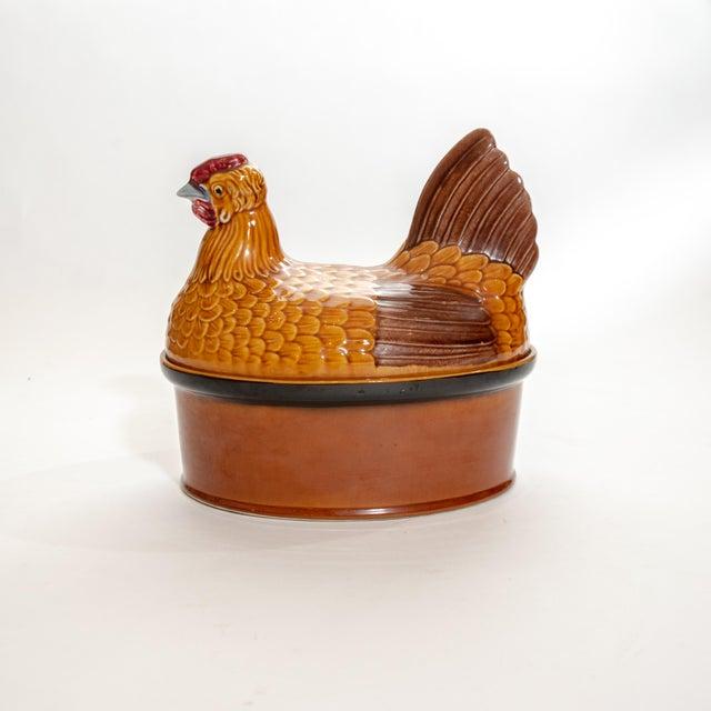 Vintage Steuler Keramik Large Nesting Hen Casserole Covered Dish For Sale - Image 4 of 13