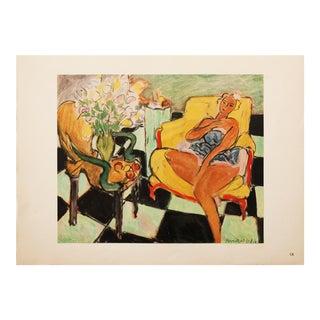 "1946 Henri Matisse Original ""Dancer Seated on a Chair"" Period Parisian Lithograph For Sale"