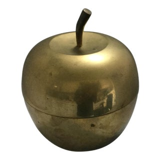 1990s Vintage Brass Apple For Sale