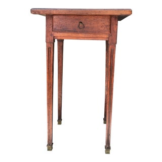 19th Century Walnut Directoire End Table With Drawer For Sale