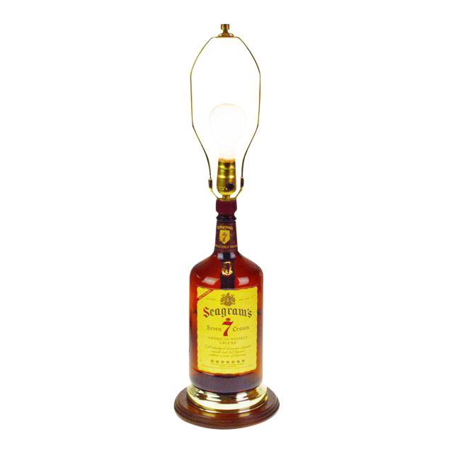 Vintage Seagram's 7 Whisky Bottle Table Lamp - Image 1 of 8