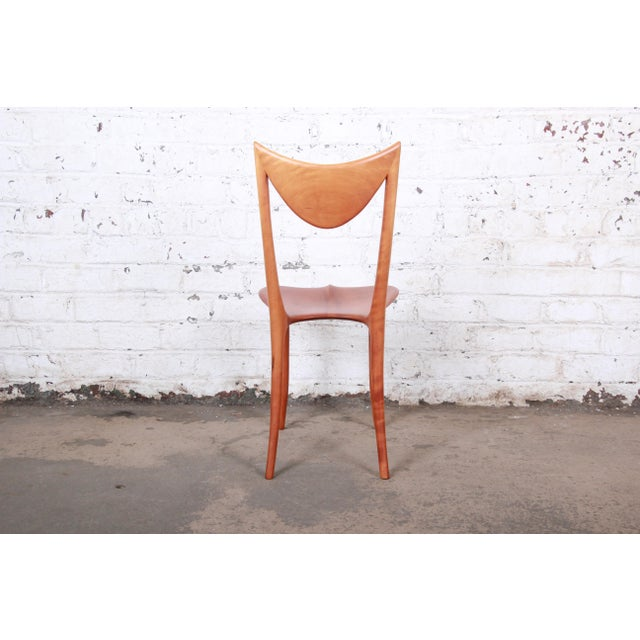 "Brown Oskar Kogoj Studio Craftsman Sculptural ""Venetia"" Chairs - a Pair For Sale - Image 8 of 13"