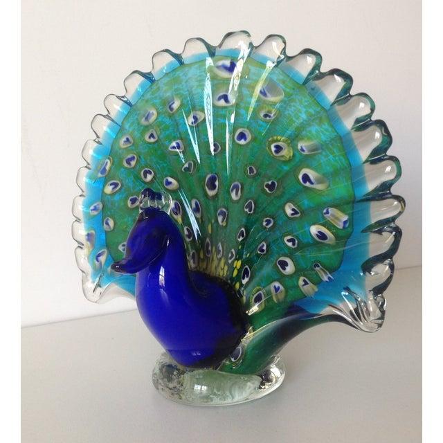 Italian Murano Handblown Peacock - Image 2 of 9