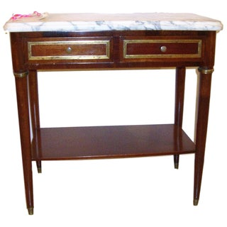 Marble-Top Mahogany Chest For Sale