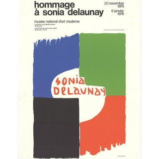 "Sonia Delaunay ""Tribute to Sonia Delaunay"" 1975 Lithograph For Sale"