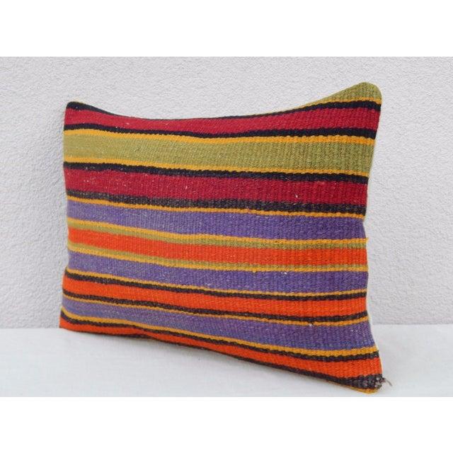 Islamic Vintage Turkish Kilim Lumbar Pillow For Sale - Image 3 of 6